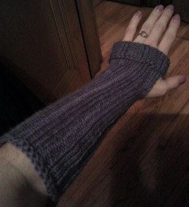 Purple arm warmers!