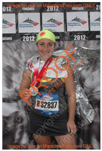 #2 @ Chicago in the coolest of headbands (and w/4:13 PR)