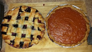 Never-the-less, our beautiful tripple berry and pumpkin pies